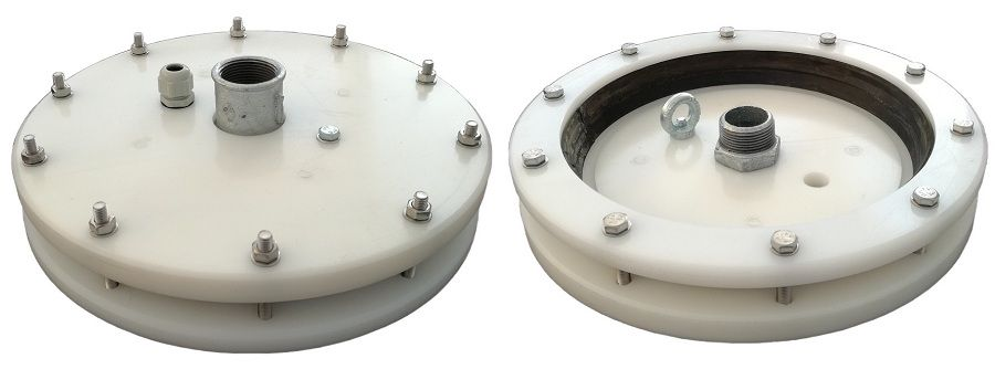 Głowica studni głębinowej na rurę osłonową 245 mm o grubości ściany 12 mm